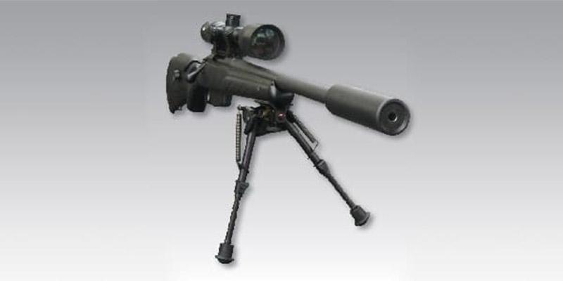 Silencieux Vortex 8 SUB monté sur Carabine 22LR
