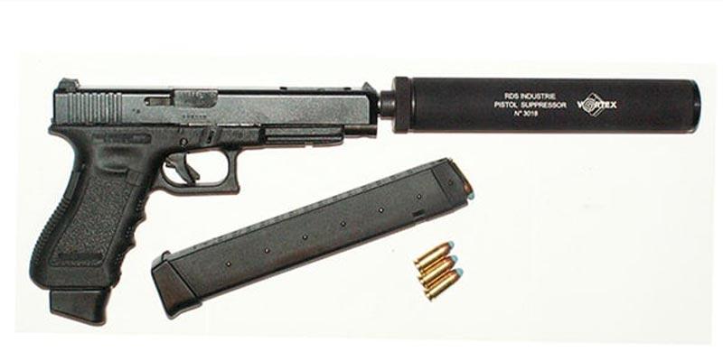Pa-9mm et réducteur de son Vortex
