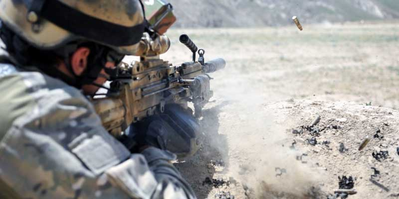Silencieux Vortex Minimi 5.56 Soldat et minimi équipé d'un RDS industrie