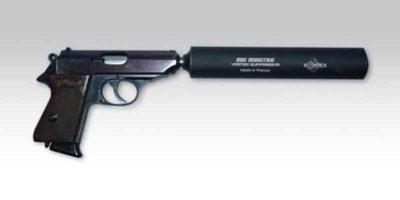 Silencieux Vortex PA-32 et Pistolet automatique équipé d'un silencieux