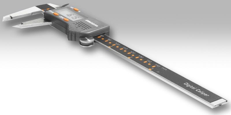 Pied à coulisse pour mesurer un filetage de canon