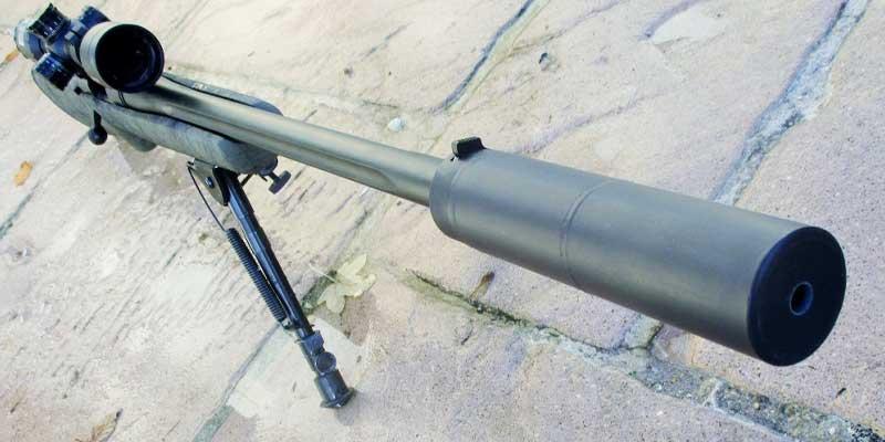 Silencieux Vortex Fasst monté sur carabine calibre 30